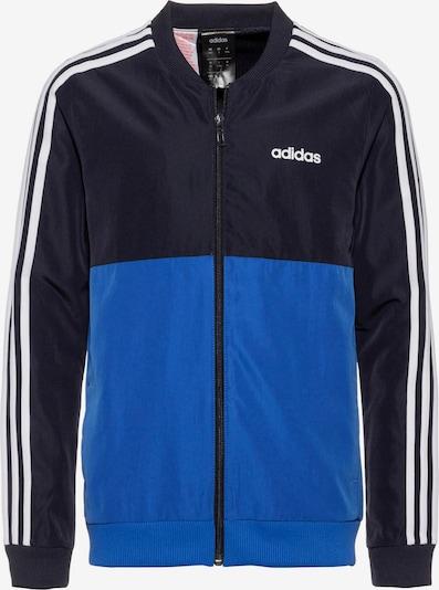 ADIDAS PERFORMANCE Trainingsjacke 'YB TS WOVEN' in blau / dunkelblau / weiß: Frontalansicht