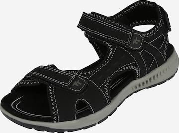 TOM TAILOR Hiking Sandals in Black
