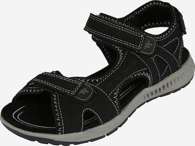 TOM TAILOR Sandały trekkingowe w kolorze czarny / białym, Podgląd produktu