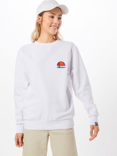 ELLESSE Sweatshirt 'HAVERFORD' in de kleur Wit: Vooraanzicht