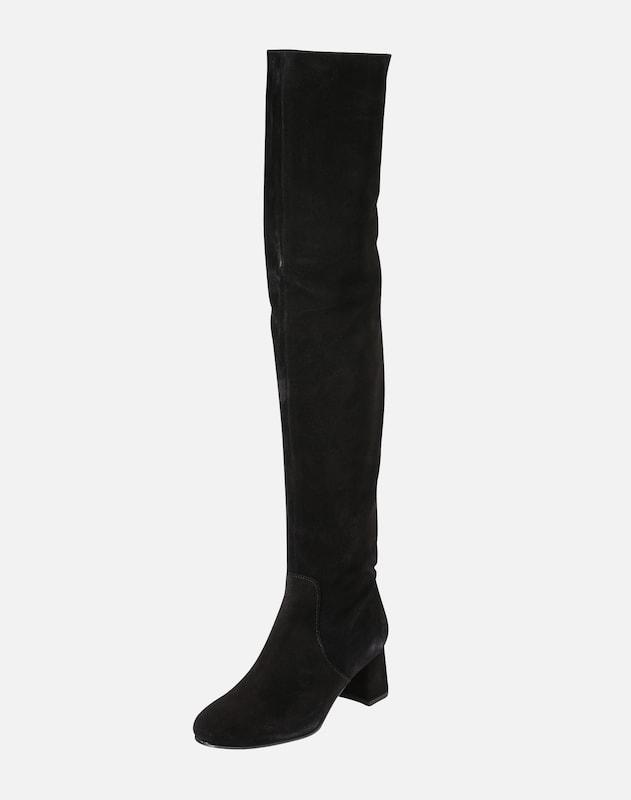 EDITED Overknee laarzen 'Margo' in Zwart | ABOUT YOU
