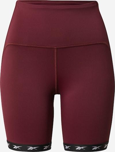 Pantaloni sport REEBOK pe maro ruginiu / roșu ruginiu / negru, Vizualizare produs
