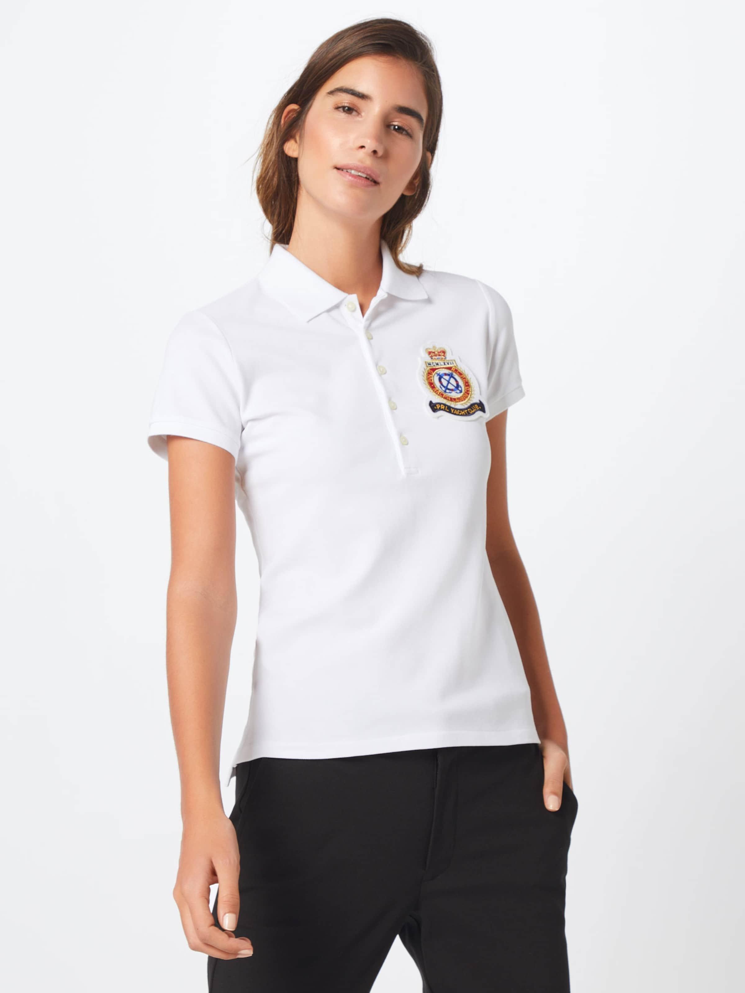 Polo W Ralph Blanc shirt T En Lauren 'julie Crst' hsdtQCrx