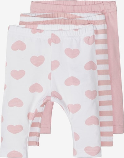 NAME IT Leggings in pastellpink / weiß, Produktansicht