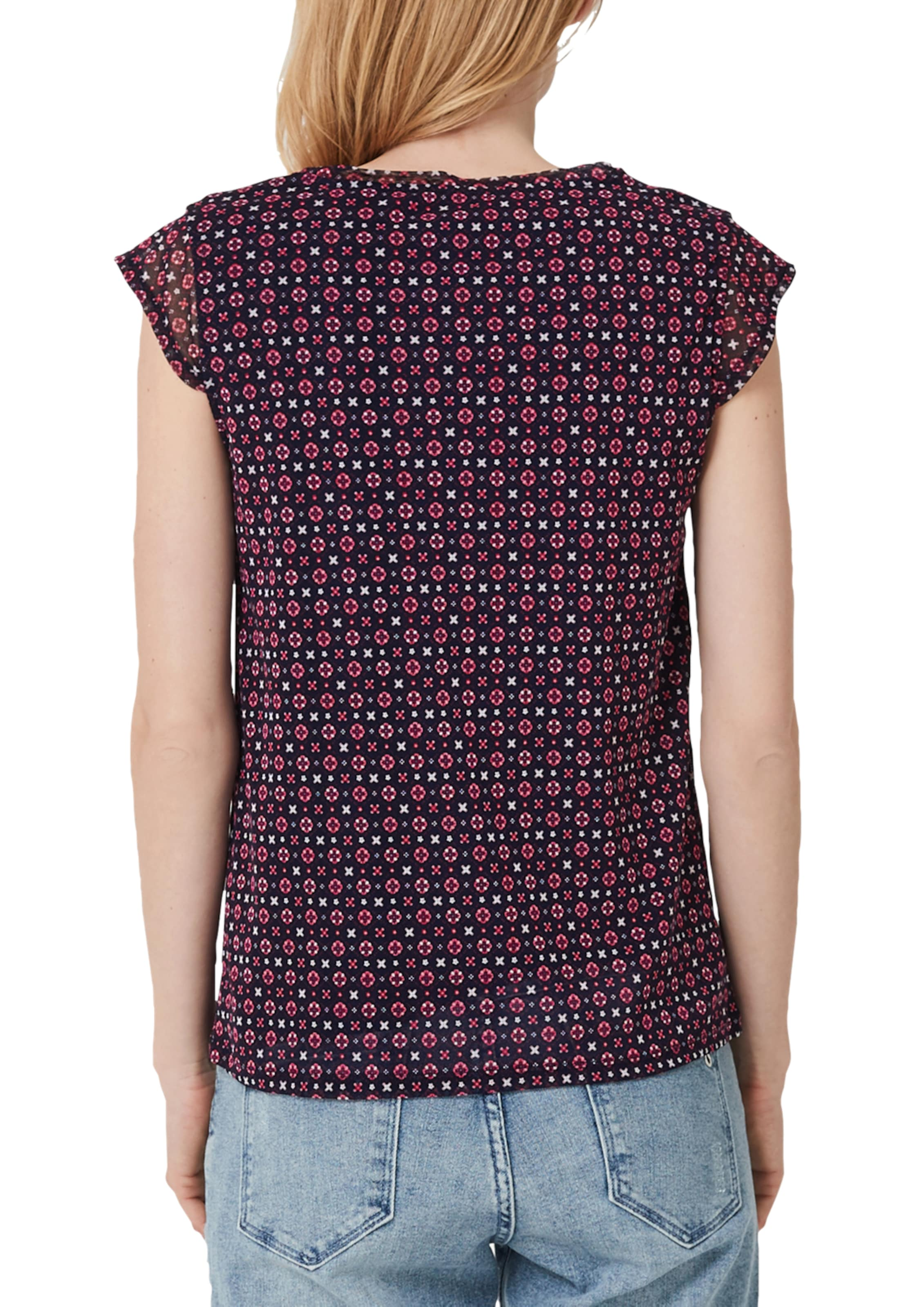 Label Red S Meshshirt oliver NavyBeere Weiß In ID2E9WH