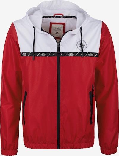 SOULSTAR Tussenjas in de kleur Rood / Zwart / Wit, Productweergave