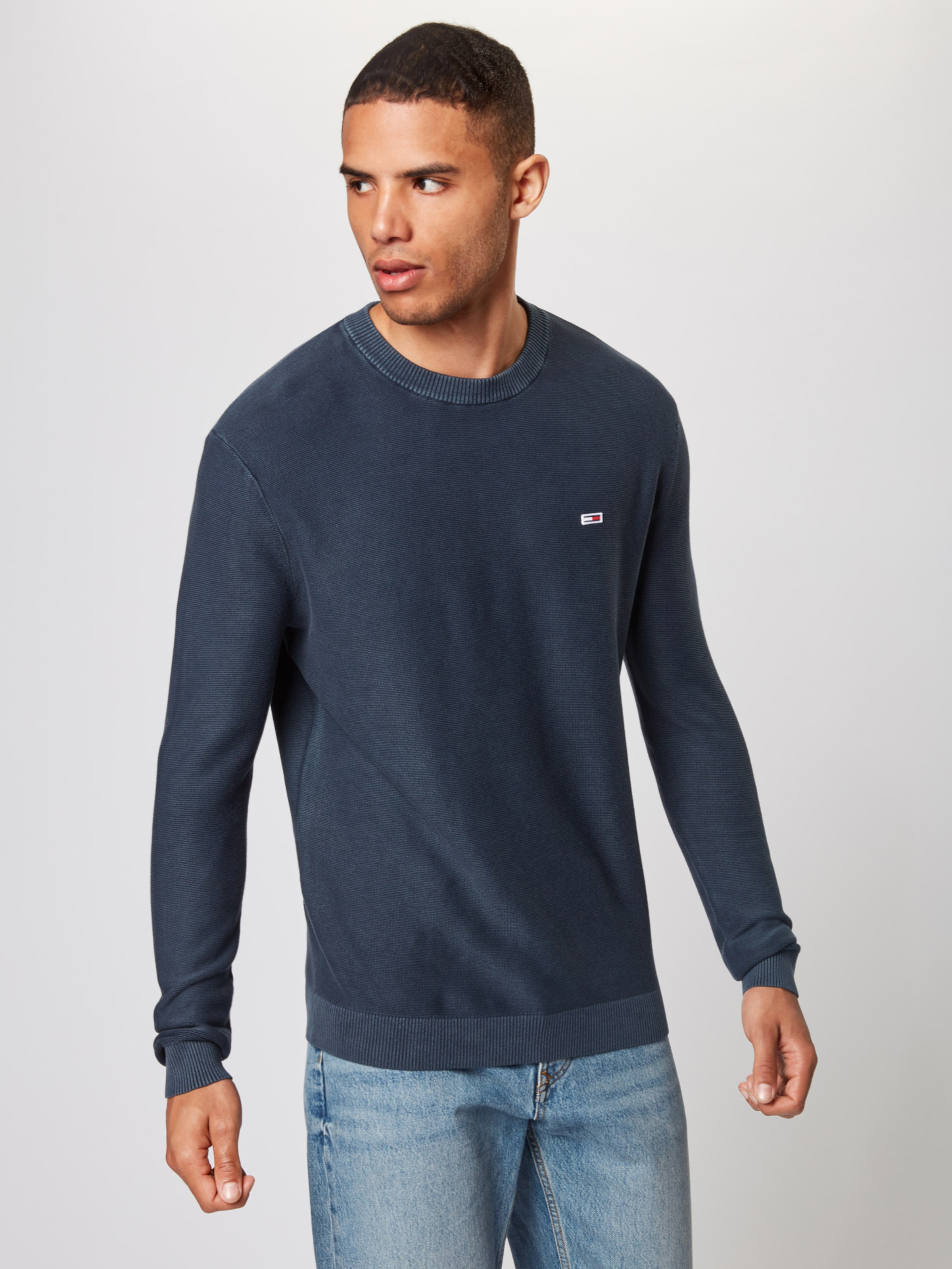 Jeans In Tommy Dunkelblau 'tjm Pullover Washed Sweater' 8nym0wOvN