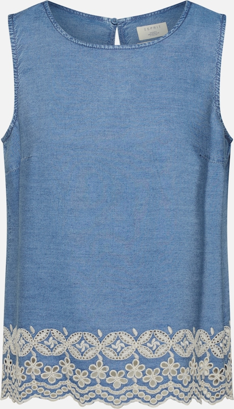 ESPRIT Bluse in blue denim, Produktansicht