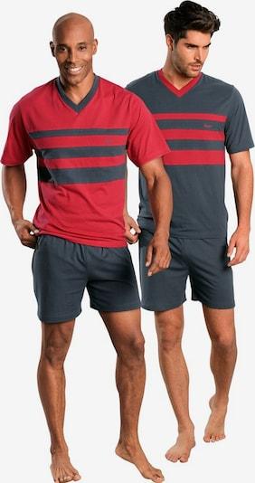LE JOGGER Īsā pidžama, krāsa - tumši pelēks / sarkans, Preces skats