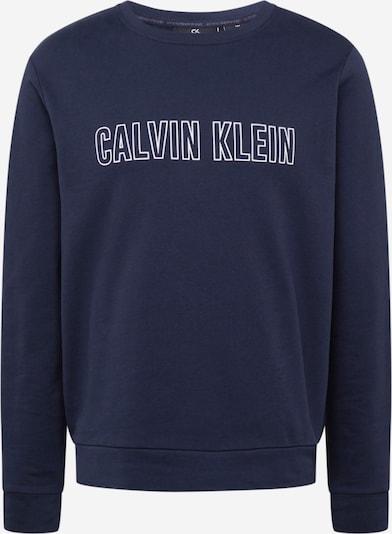 Calvin Klein Performance Sportska sweater majica u mornarsko plava / bijela, Pregled proizvoda