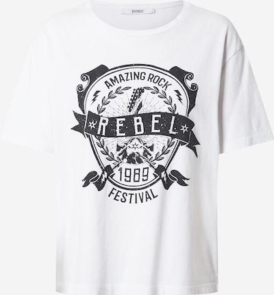 ONLY Shirt 'ZIA' in schwarz / weiß, Produktansicht