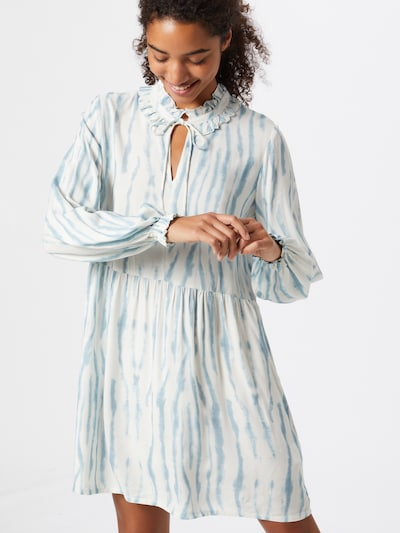 Cecilie Copenhagen Šaty 'Frida' - světlemodrá / bílá: Pohled zepředu