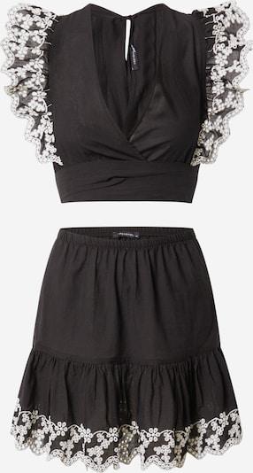 Trendyol Jumpsuit 'Bottom' in de kleur Zwart / Wit: Vooraanzicht
