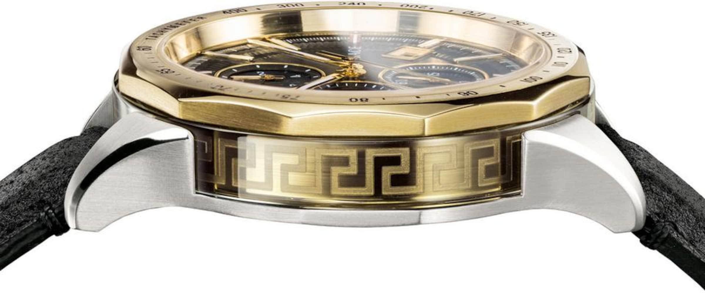 Versace In 'glaze' Silber Chronograph GoldSchwarz PNwX0nOk8