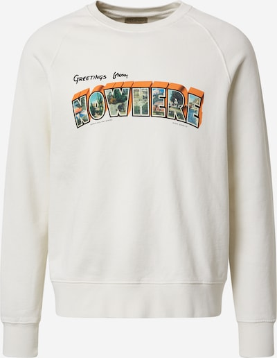 Nudie Jeans Co Sweatshirt 'Melvin Greetings' in de kleur Wit, Productweergave