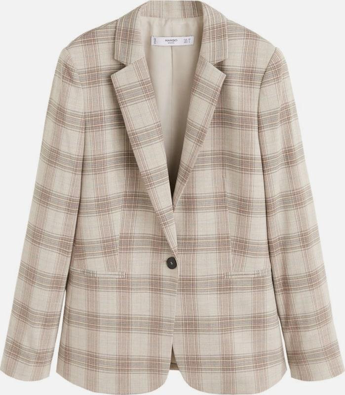 MANGO Blazer 'Mini' in beige    Markenkleidung für Männer und Frauen 47ce8b