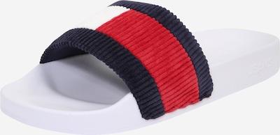 Tommy Jeans Nizki natikači 'Corduroy' | temno modra / rdeča / bela barva, Prikaz izdelka