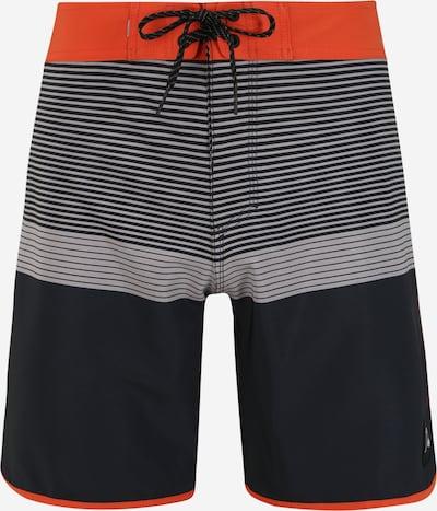 QUIKSILVER Shorts de bain 'HIGHLINE TIJUANA' en gris / gris foncé / orange fluo / noir, Vue avec produit