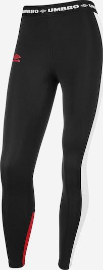 UMBRO Leggings 'ISLANDER' in de kleur Rood / Zwart / Wit, Productweergave