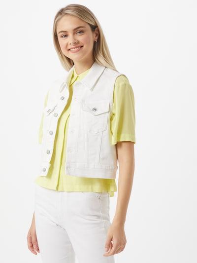 Calvin Klein Jeans Kamizelka w kolorze białym, Podgląd na modelu(-ce)