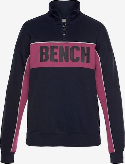 BENCH Sweatshirt 'Contrast' in marine, Produktansicht
