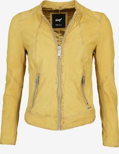 Maze Lederjacke perforiert ' Mabel ' in gelb, Produktansicht