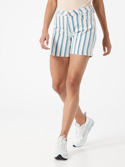 Q/S designed by Shorts in himmelblau / pastellpink / weiß, Modelansicht