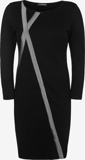 Doris Streich Kleid mit Glitzerstreifen in schwarz / silber, Produktansicht