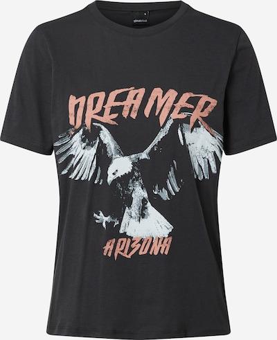 Gina Tricot T-shirt 'Ida' en gris foncé / abricot / noir, Vue avec produit