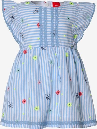 s.Oliver Kleid in hellblau / mischfarben / weiß, Produktansicht