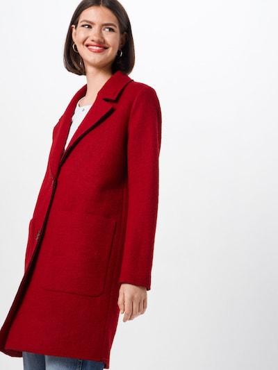 EDC BY ESPRIT Mantel 'Knitted Wool' in rot, Modelansicht