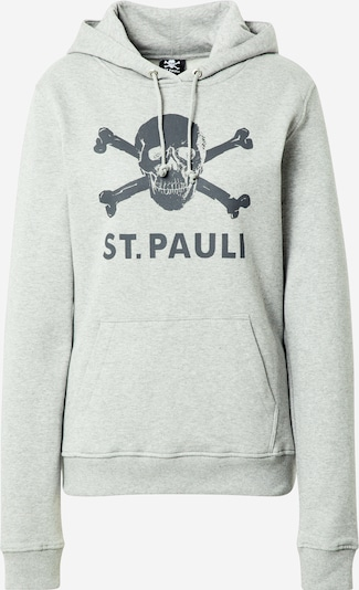 FC St. Pauli Sweat-shirt en graphite / gris chiné, Vue avec produit