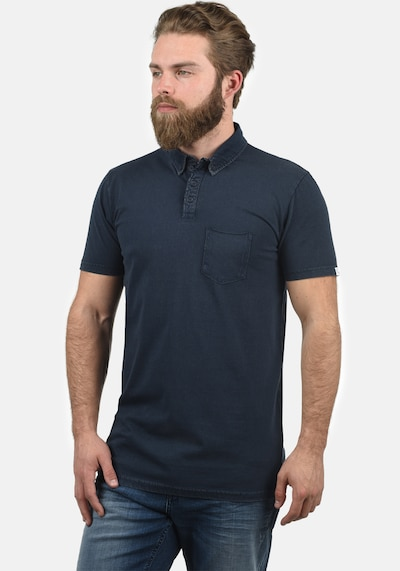 !Solid Poloshirt 'Pat' in blau: Frontalansicht