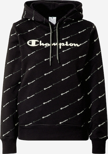 Champion Authentic Athletic Apparel Sweater majica u crna / bijela, Pregled proizvoda
