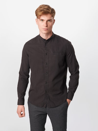 DRYKORN Koszula 'Daryl' w kolorze czarnym: Widok z przodu