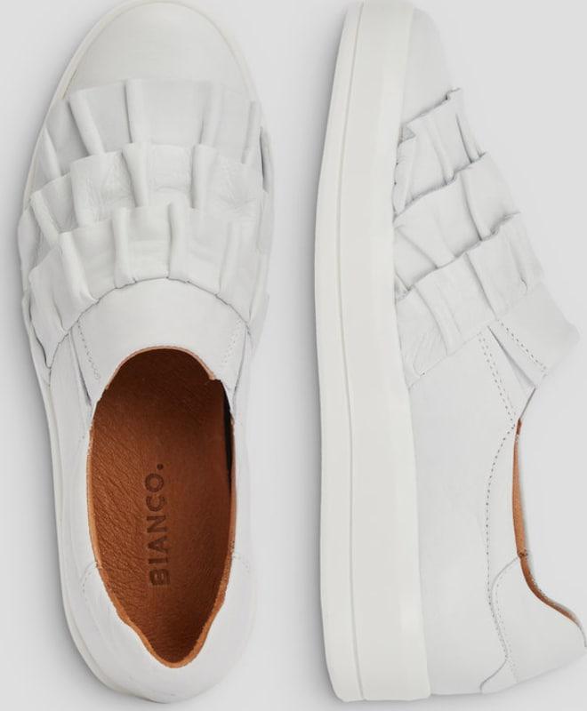 Haltbare Mode billige Schuhe Bianco | Gerüschte Sneaker Schuhe Gut getragene Schuhe