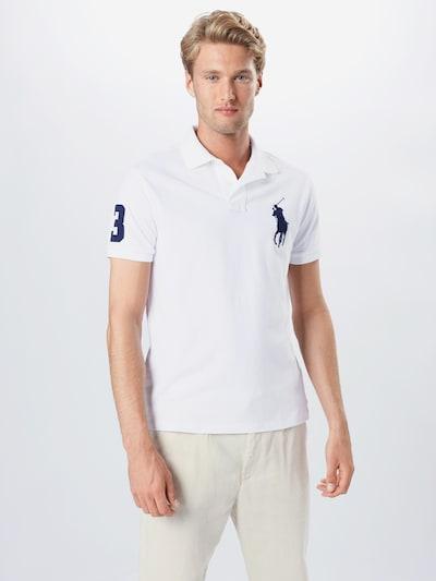 POLO RALPH LAUREN Shirt in blau / weiß: Frontalansicht
