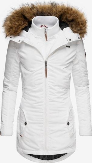 MARIKOO Wintermantel 'Sanakoo' in weiß, Produktansicht