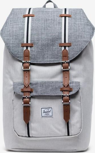 Herschel Rucksack in braun / grau / graumeliert / weiß, Produktansicht