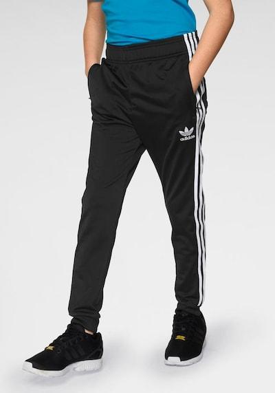 ADIDAS ORIGINALS Kalhoty 'Superstar' - černá / bílá: Pohled zepředu