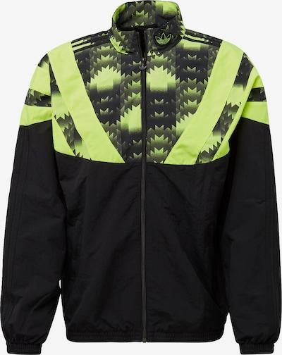 ADIDAS ORIGINALS Jacke in neongrün / schwarz, Produktansicht