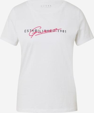 Tricou GUESS pe roz / negru / alb, Vizualizare produs