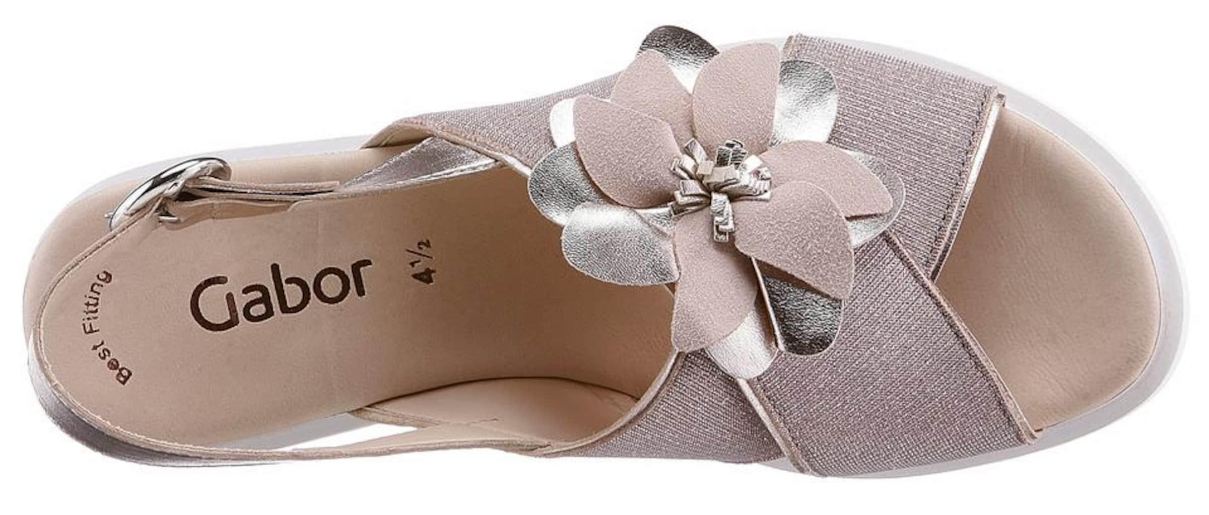 Sandalette In Silber Gabor CremeRosegold Weiß byf76Ygv