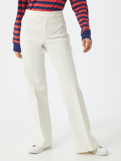 POLO RALPH LAUREN Pantalon 'SMNE PT-RELAXED-WIDE LEG-PANT' in de kleur White denim, Modelweergave