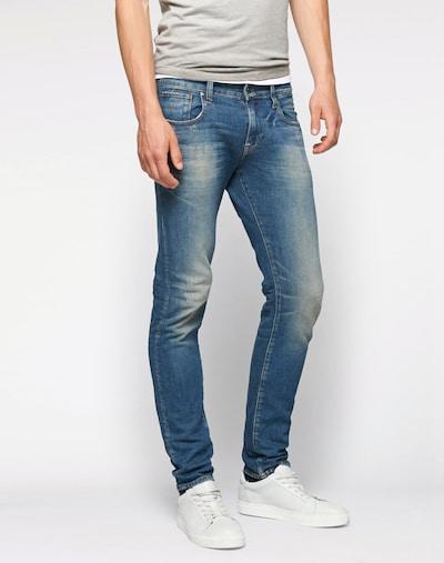G-Star RAW Jean 'Revend Super Slim' en bleu, Vue avec modèle