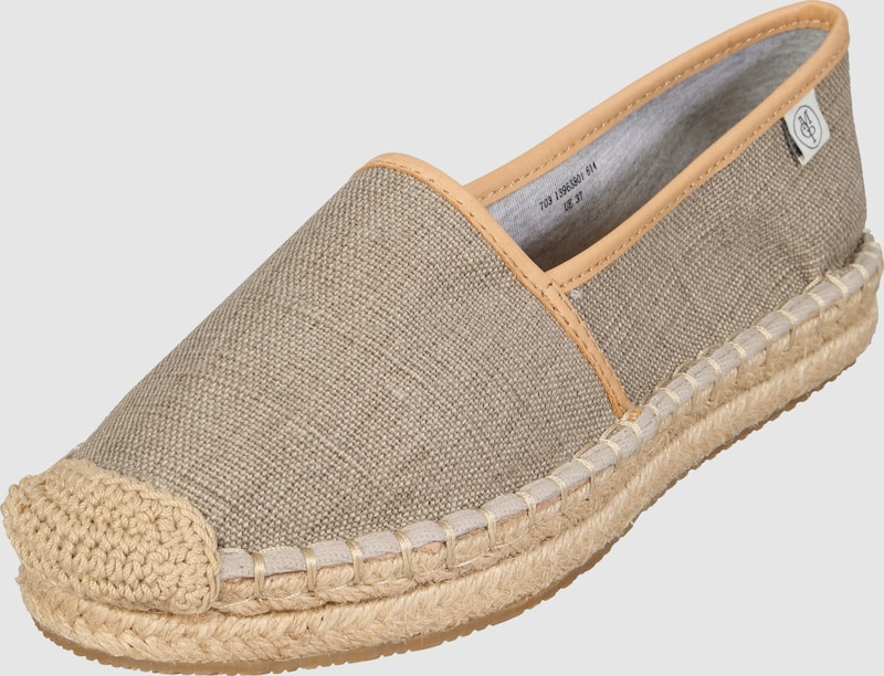 marc o 39 polo espadrilles mit lederdetails in grau about you. Black Bedroom Furniture Sets. Home Design Ideas