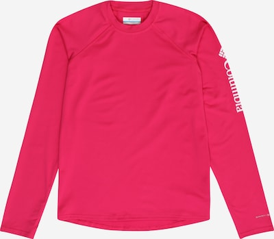 COLUMBIA Functioneel shirt 'Sandy Shores' in de kleur Pink / Wit, Productweergave