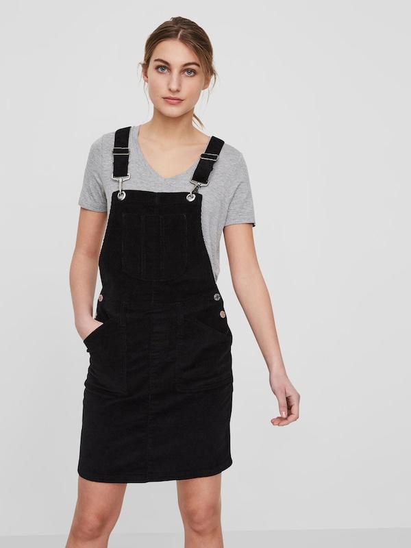 Noisy may Kordsamt Latzhosen Kleid in schwarz | ABOUT YOU