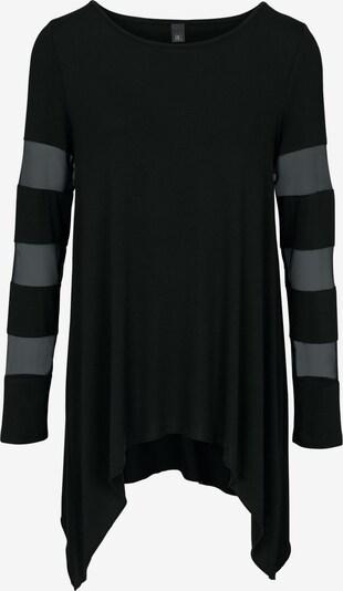 heine T-shirt en noir, Vue avec produit