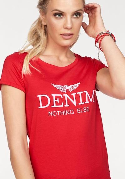 ARIZONA Shirt in hellrot / weiß, Produktansicht